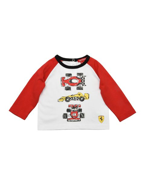 Two-colour infant T-shirt with long sleeves