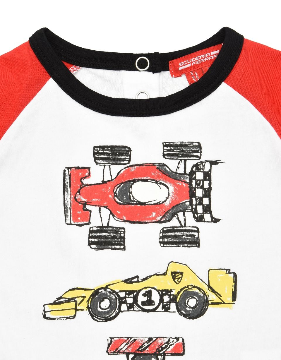 Scuderia Ferrari Online Store - Two-tone infant long-sleeved T-shirt - Long Sleeve T-Shirts