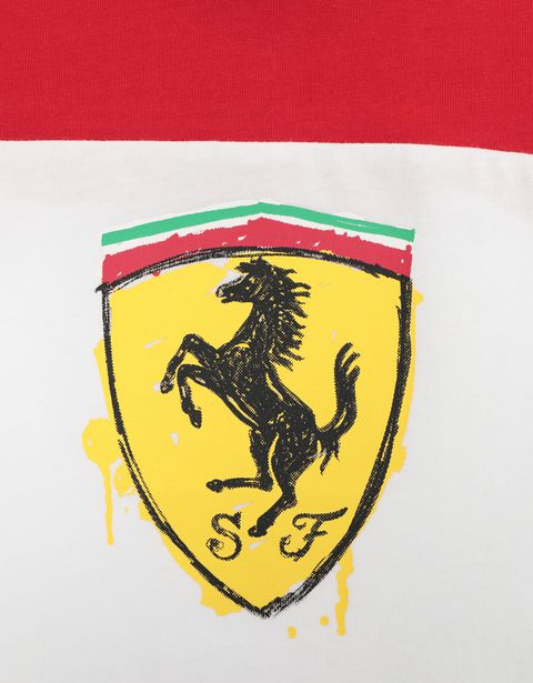 Scuderia Ferrari Online Store - Two-colour infant T-shirt with Shield - Short Sleeve T-Shirts