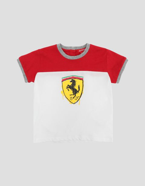 Two-colour infant T-shirt with Shield