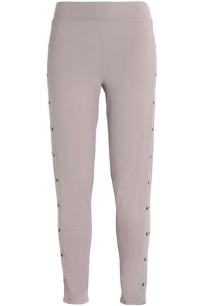 YUMMIE by HEATHER THOMSON Eyelet-embellished stretch-cotton leggings