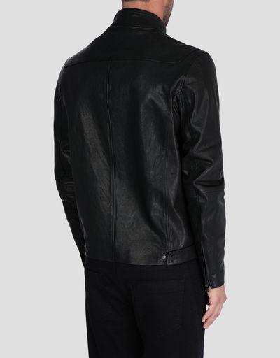 Scuderia Ferrari Online Store - Veste en cuir pour homme - Vestes en cuir