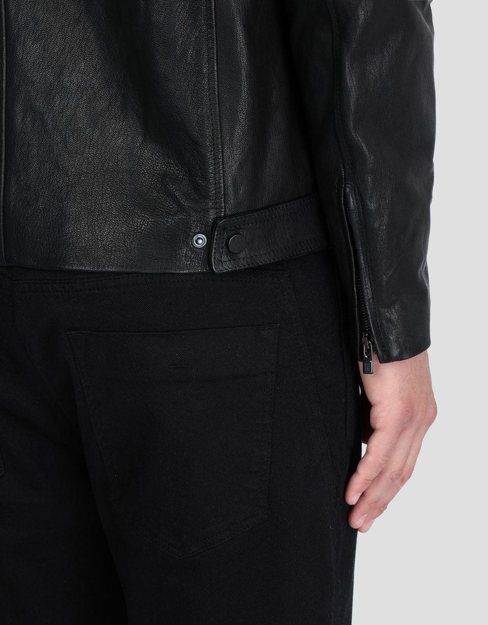 Scuderia Ferrari Online Store - Men's leather jacket -