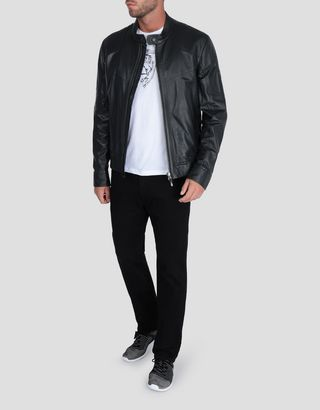 Scuderia Ferrari Online Store - Men's nappa lambskin jacket - Leather Jackets