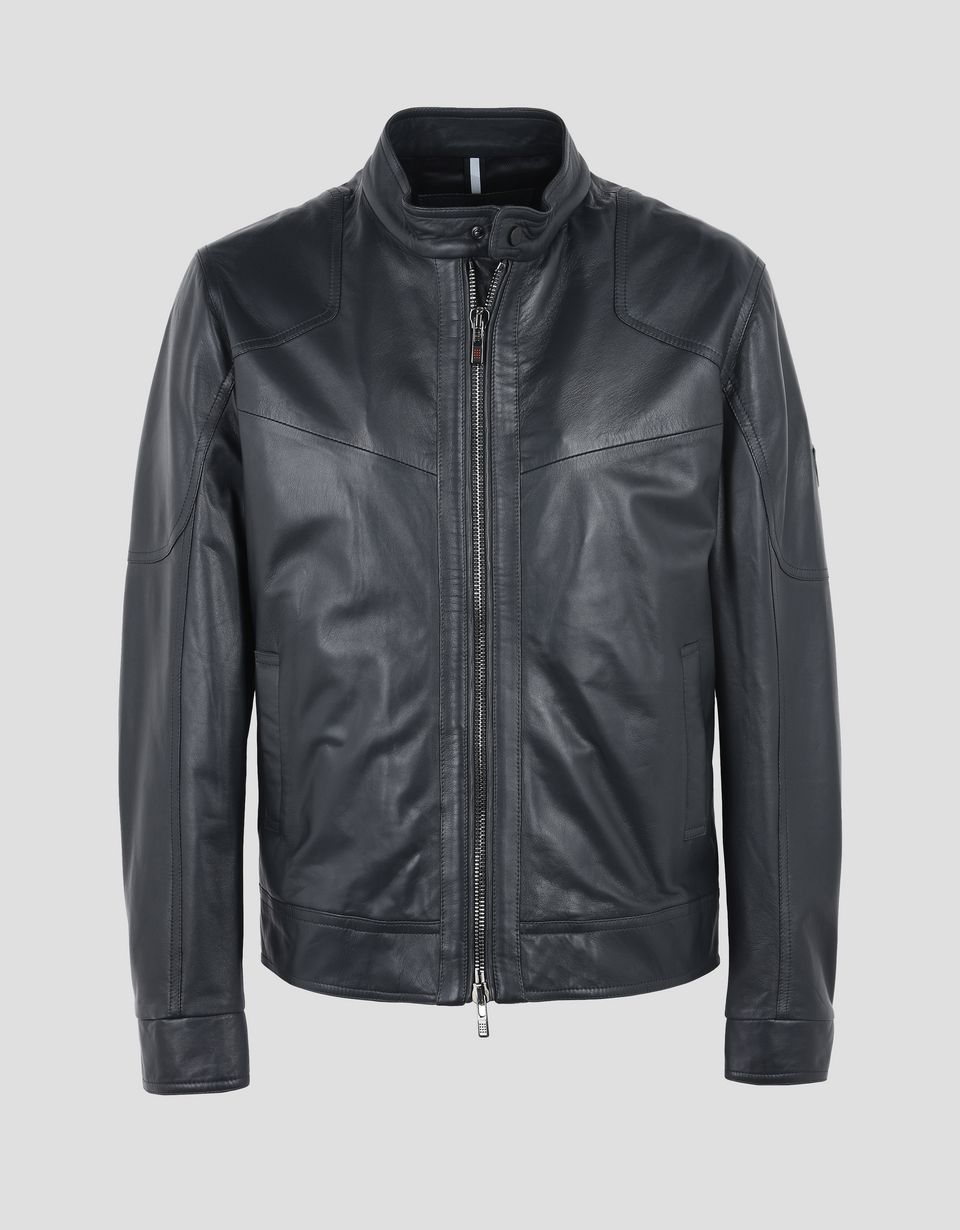 Scuderia Ferrari Online Store - Men's leather jacket -