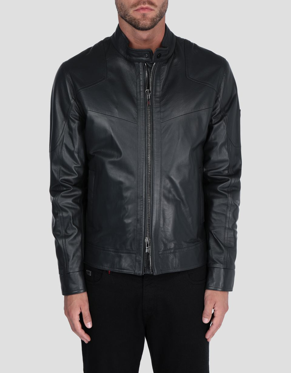Scuderia Ferrari Online Store - Men's jacket in lambskin nappa leather - Leather Jackets