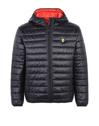 Scuderia Ferrari Online Store - Men's padded jacket with hood - Down Jackets