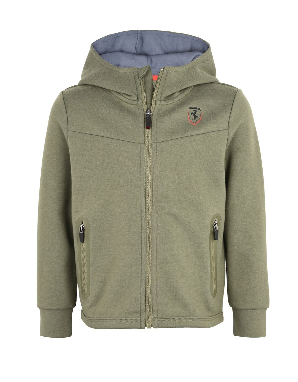 Scuderia Ferrari Online Store - Women's T-shirt with laminated print - Zip Hood Sweaters