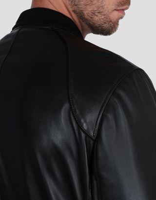 Scuderia Ferrari Online Store - Bomber rembourré en cuir nappa d'agneau pour homme - Vestes en cuir