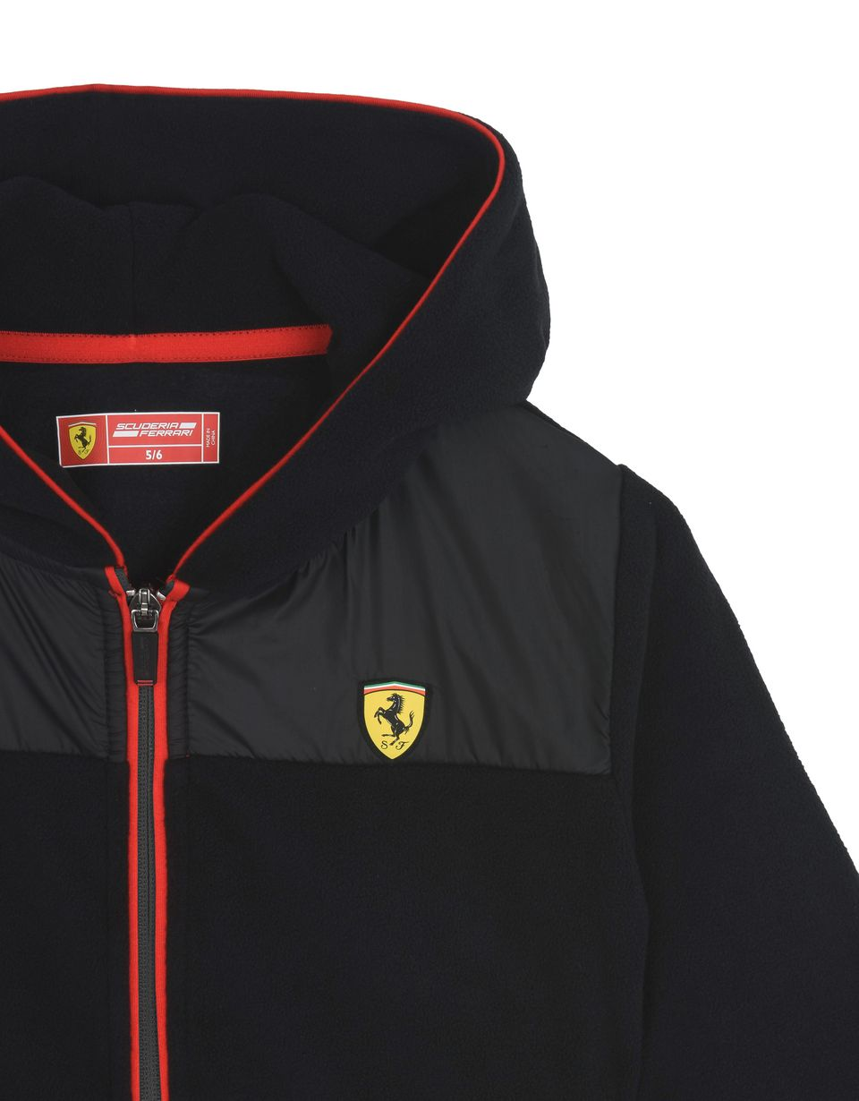 Scuderia Ferrari Online Store - Boys' full zip fleece sweatshirt - Zip Hood Jumpers