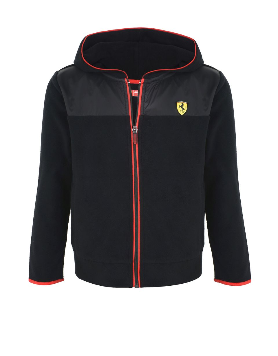 Scuderia Ferrari Online Store - Boys' full zippered fleece sweatshirt - Zip Hood Sweaters