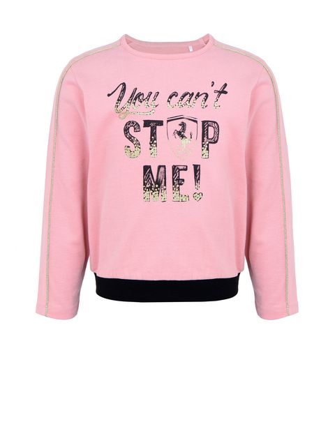 "Girls' ""You can't stop me!"" sweatshirt"