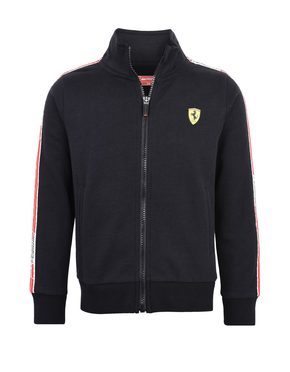 Scuderia Ferrari Online Store - Sweat-shirt enfant en coton avec <i>Icon Tape</i> - Zip Jumper