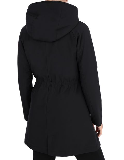 Hooded and padded women's jacket