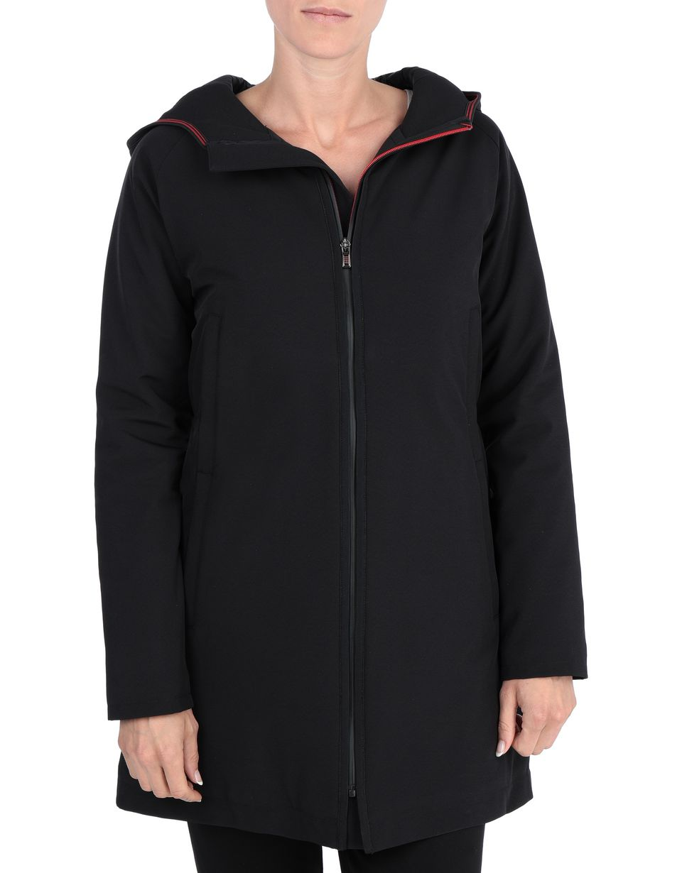 Scuderia Ferrari Online Store - Hooded and padded women's jacket - Parkas