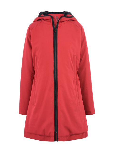 Scuderia Ferrari Online Store - Women's padded jacket with hood - Parkas
