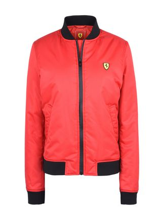 Scuderia Ferrari Online Store - Women's bomber jacket with zip - Bombers & Track Jackets