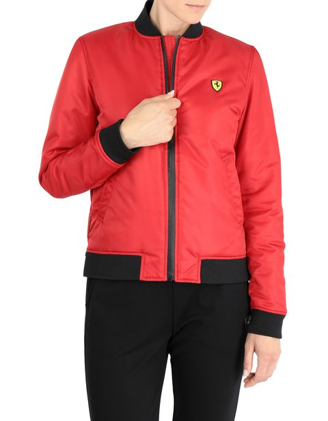 Women's bomber jacket with zippers