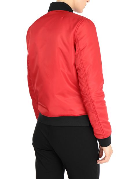 Women's bomber jacket with zip