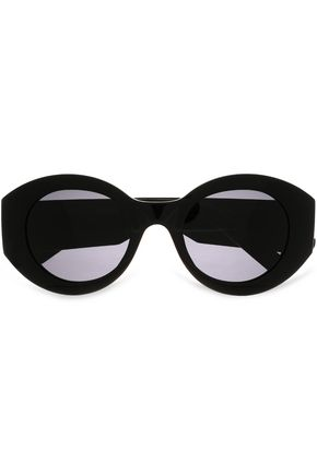 MARC JACOBS Oval-frame acetate and gold-tone sunglasses