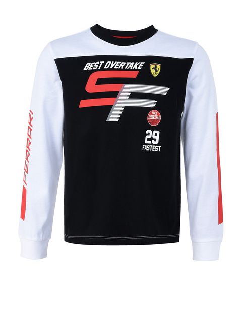 Boys' long-sleeved T-shirt in stretch jersey