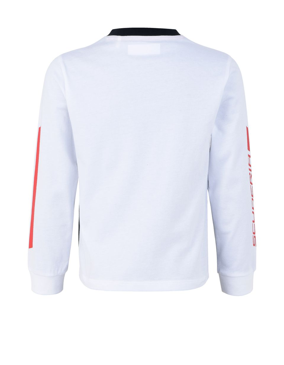 Scuderia Ferrari Online Store - Children's long-sleeved jersey T-shirt - Long Sleeve T-Shirts