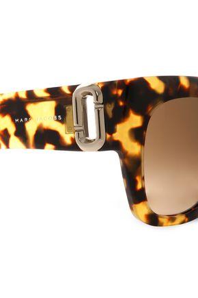 MARC JACOBS Square-frame tortoiseshell acetate sunglasses