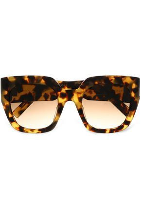 MARC JACOBS Square-frame tortoiseshell acetate sunglasses