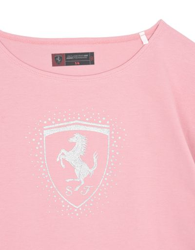 Scuderia Ferrari Online Store - Girls' T-shirt with Shield - Short Sleeve T-Shirts