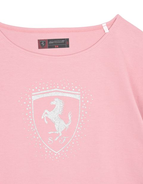 Scuderia Ferrari Online Store - Girls' T-shirt with Shield - Short Sleeve T-Shirts