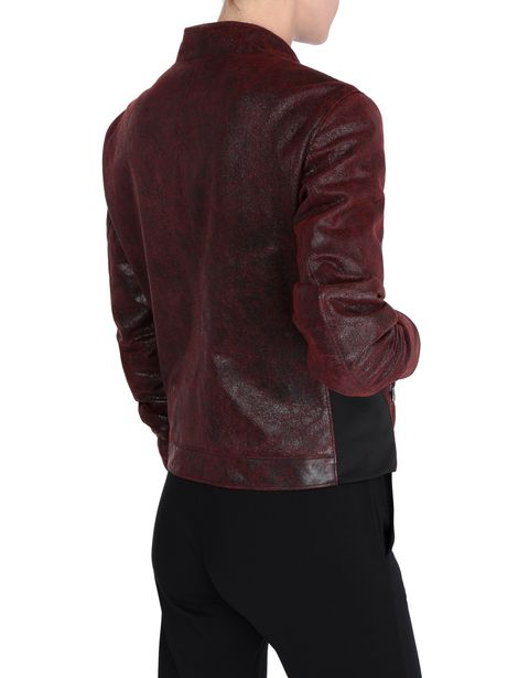 Crackle leather women's jacket