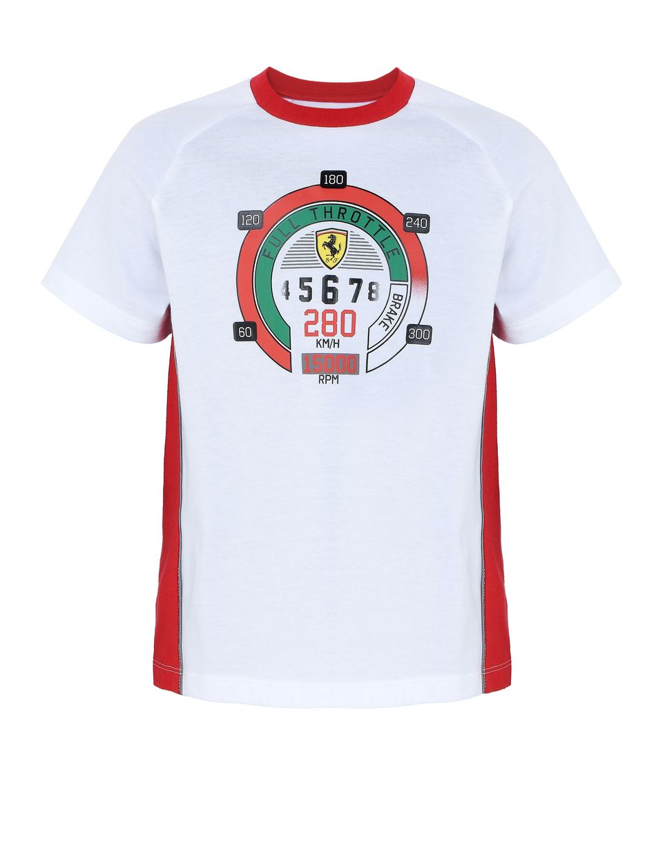 Scuderia Ferrari Online Store - Children's cotton T-shirt with speedometer print -