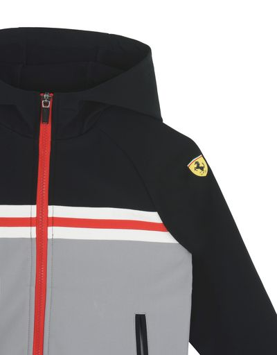 Scuderia Ferrari Online Store - Children's hooded softshell jacket - Bombers & Track Jackets