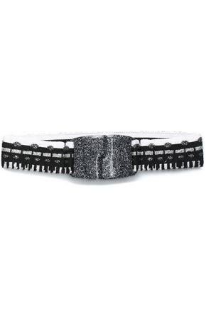 MISSONI Metallic crochet-knit belt