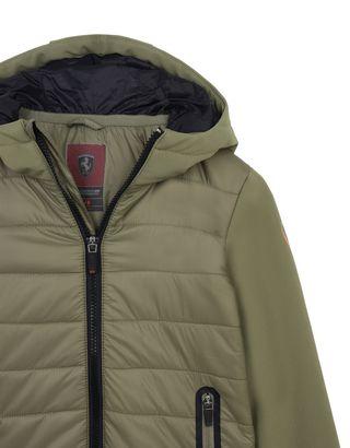 Scuderia Ferrari Online Store - Nylon and softshell children's jacket - Down Jackets