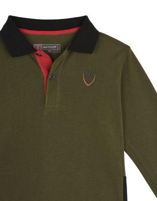 Scuderia Ferrari Online Store - Children's polo shirt in cotton pique -
