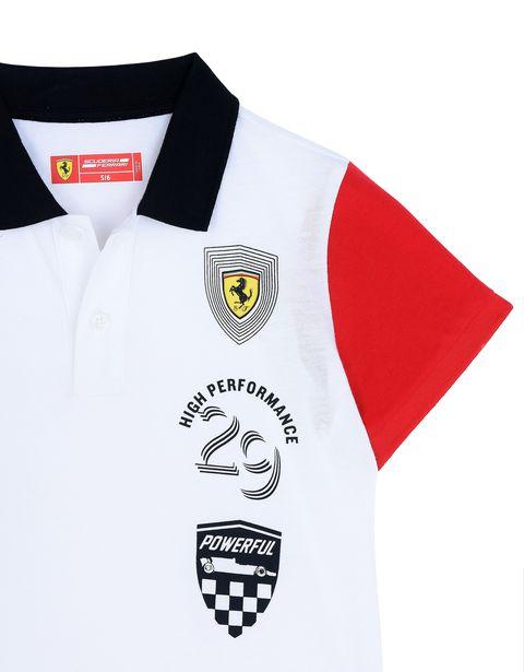 Scuderia Ferrari Online Store - Boys' polo shirt in cotton jersey - Short Sleeve Polos