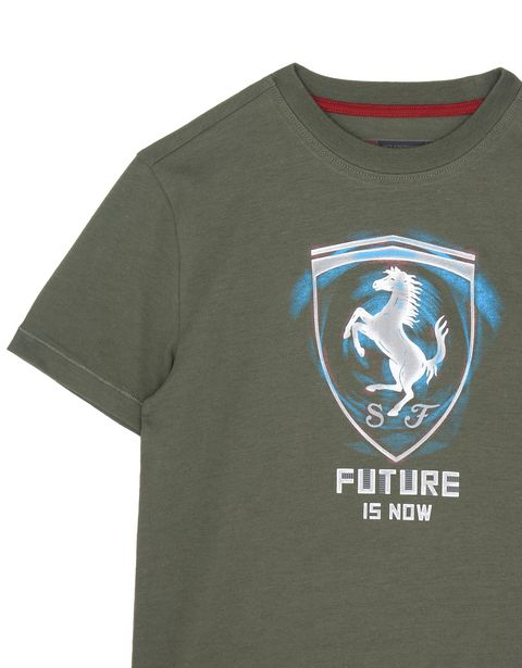 "Scuderia Ferrari Online Store - ""Future is now"" children's T-shirt - Short Sleeve T-Shirts"