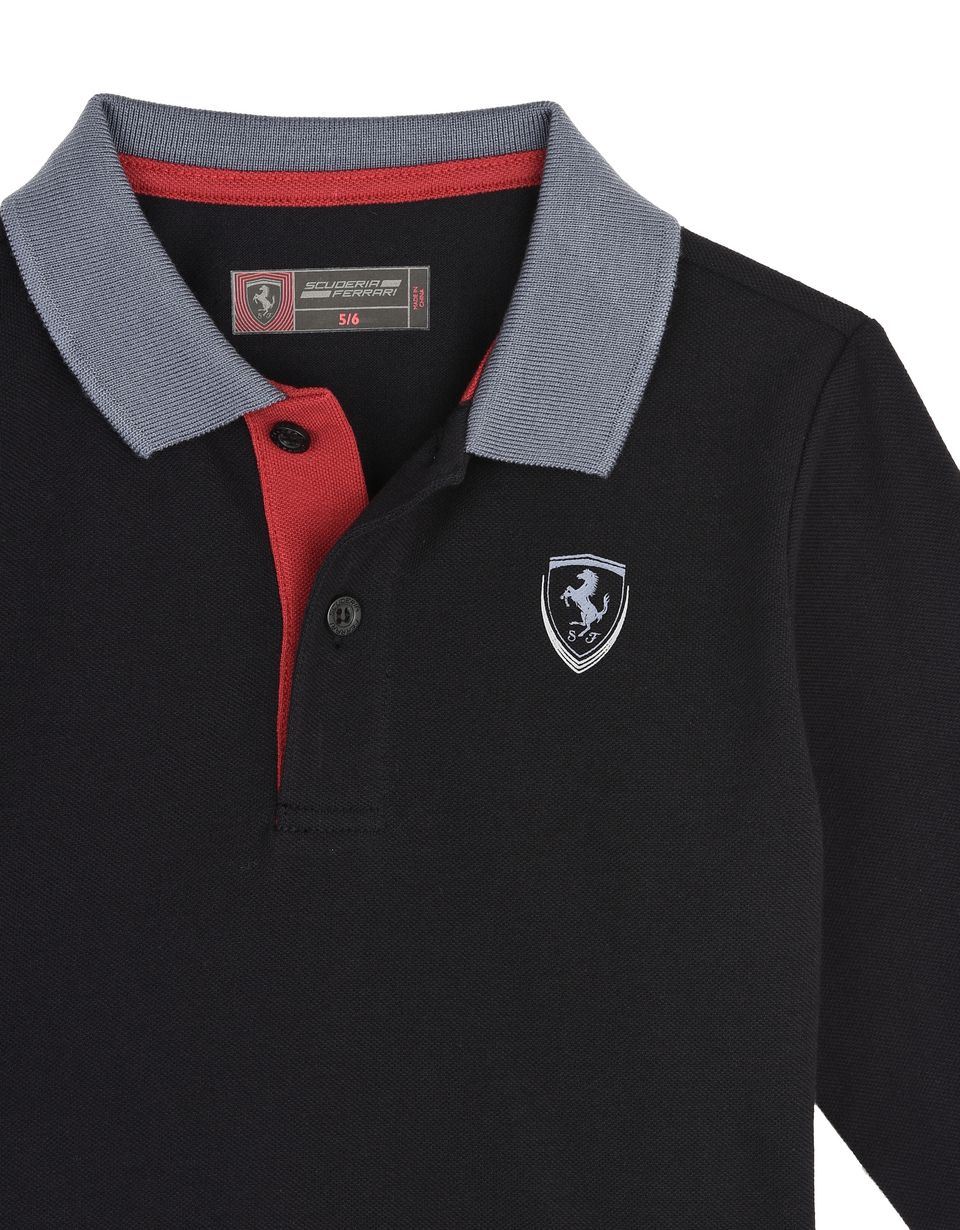 Scuderia Ferrari Online Store - Children's polo shirt in cotton pique -