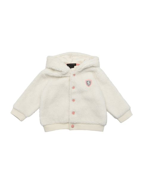 Infant hooded sweatshirt with press studs