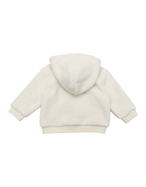 Infants' sweatshirt with hood and snap buttons