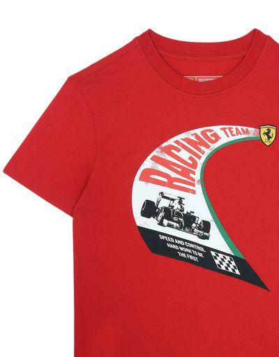 Scuderia Ferrari Online Store - 青少年复古印纹棉质 T 恤 - Short Sleeve T 恤