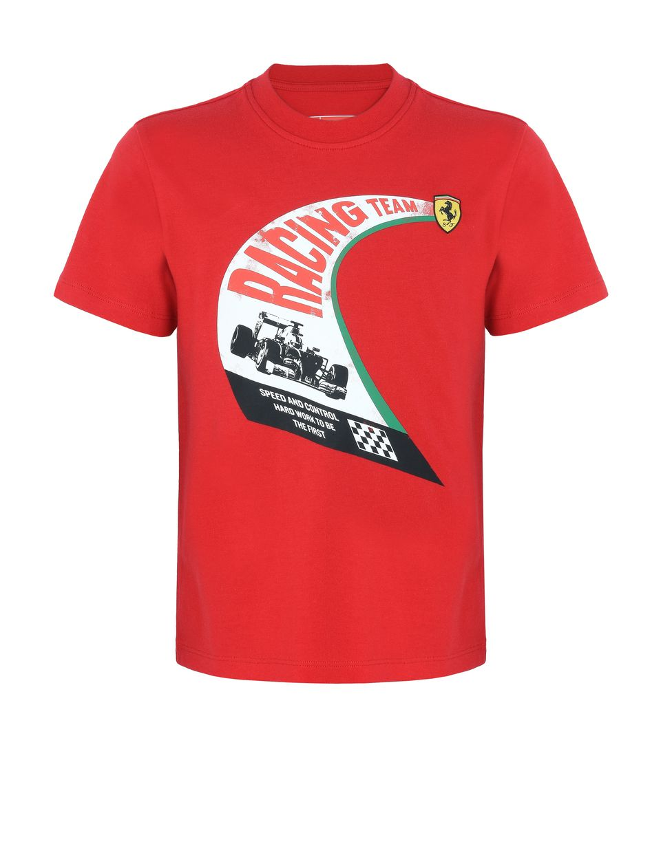 Scuderia Ferrari Online Store - Boys' cotton T-shirt with vintage print -