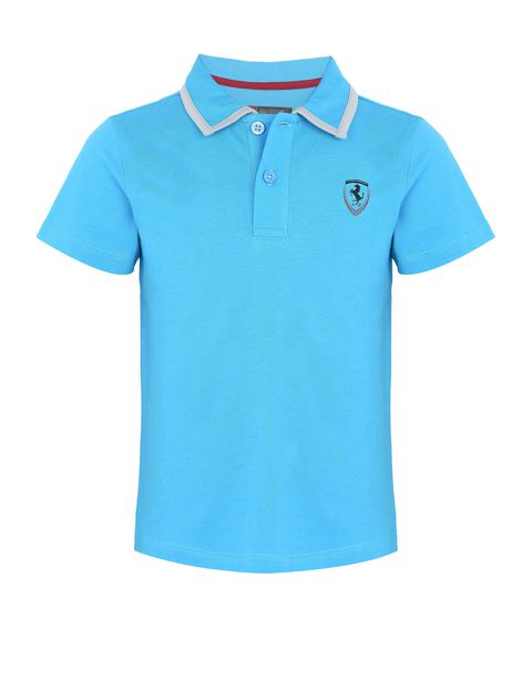Children's cotton jersey polo shirt
