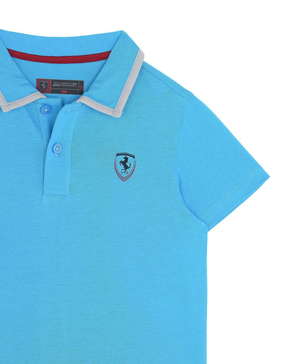 Scuderia Ferrari Online Store - Children's polo shirt in cotton jersey -