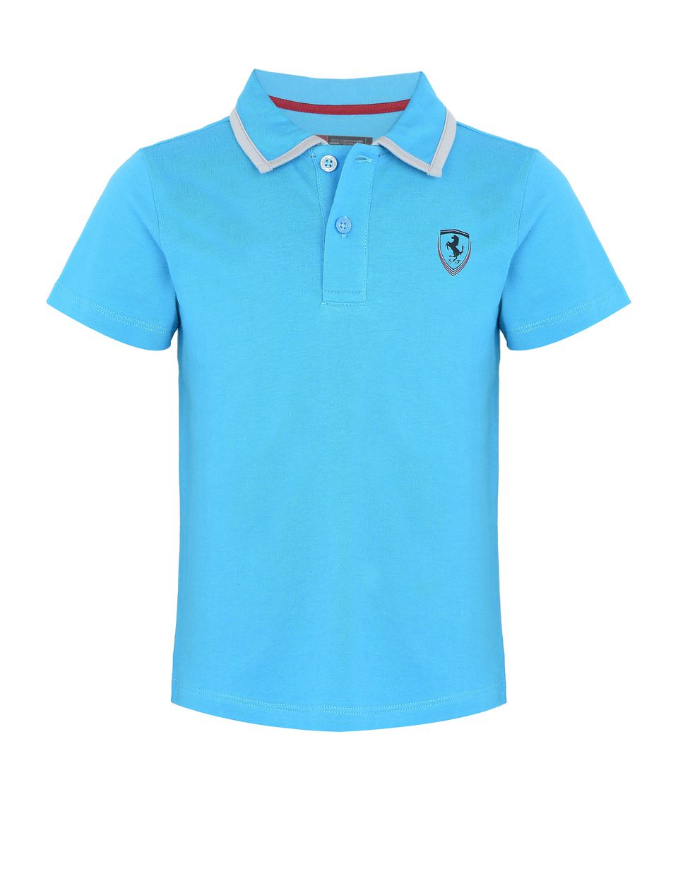 Scuderia Ferrari Online Store - Children's cotton jersey polo shirt -