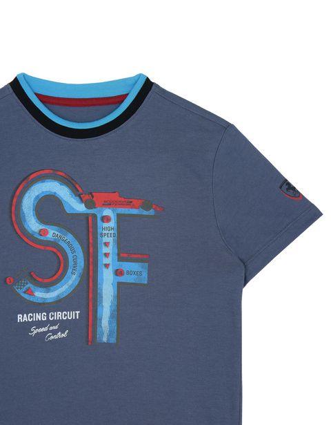 Scuderia Ferrari Online Store - T-shirt enfant avec imprimé circuit automobile -