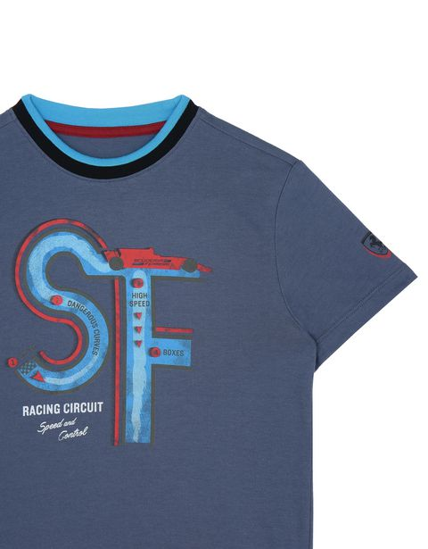 Scuderia Ferrari Online Store - Children's T-shirt with racing circuit print -