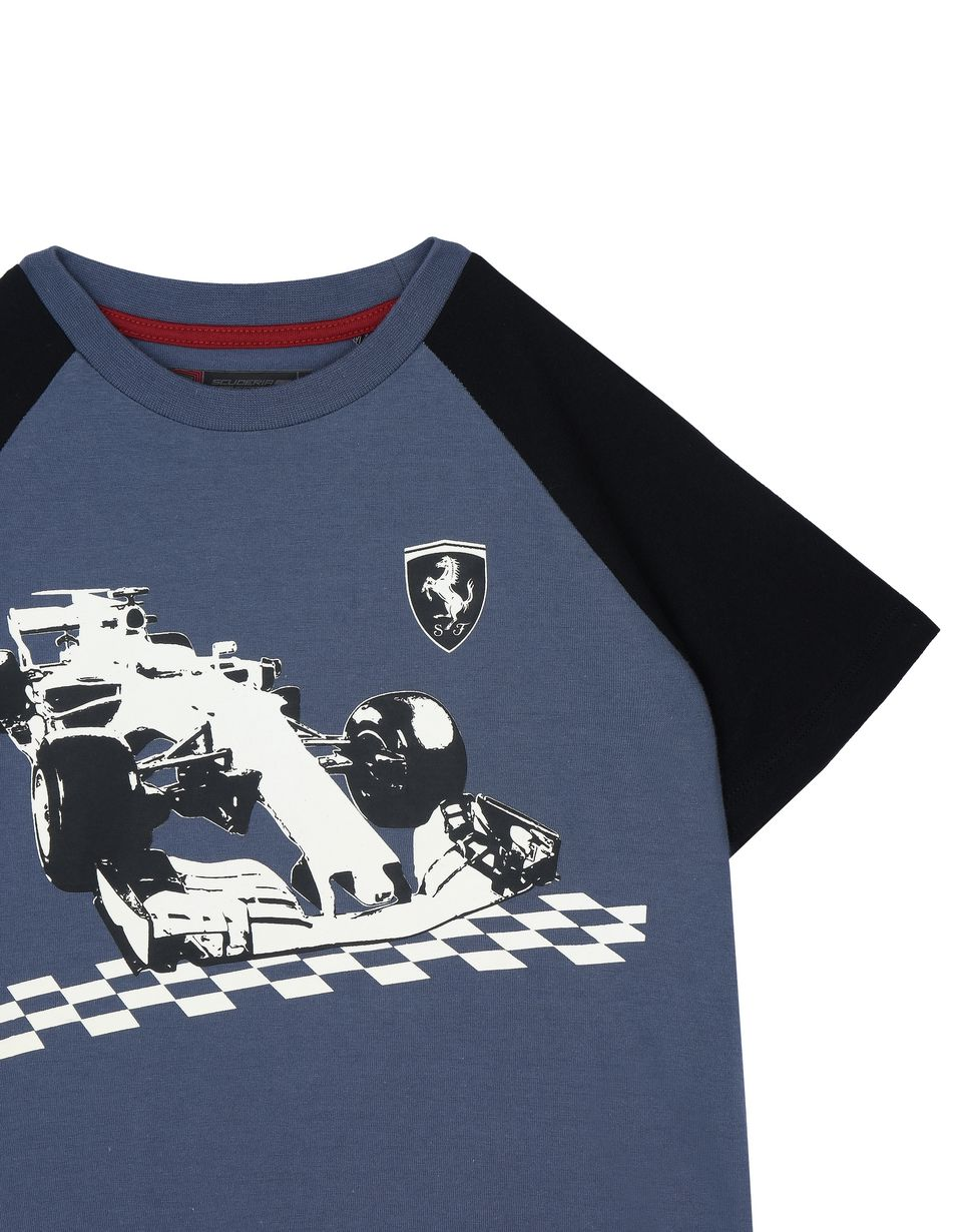 Scuderia Ferrari Online Store - Children's glow-in-the-dark T-shirt - Short Sleeve T-Shirts