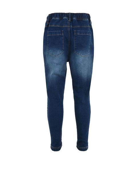 Children's trousers in denim-effect fleece